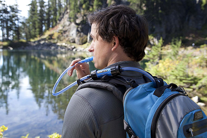 Sawyer Mini Hooked Up To Hydration Pack